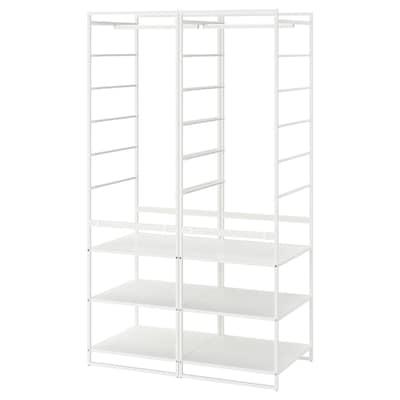 JONAXEL Kombinacja szafy, biały, 99x51x173 cm