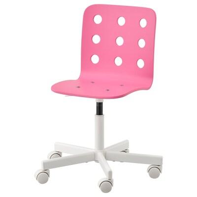 JULES Dziecięce krzesło biurowe, różowy/biały