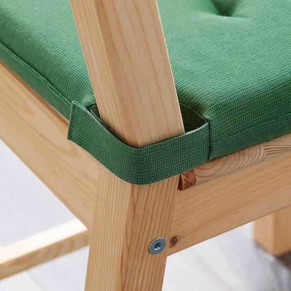 JUSTINA Poduszka na krzesło, zielony, 42/35x40x4 cm