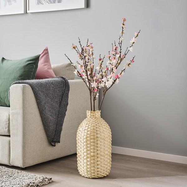KAFFEBÖNA Wazon dekoracyjny, bambus, 45 cm