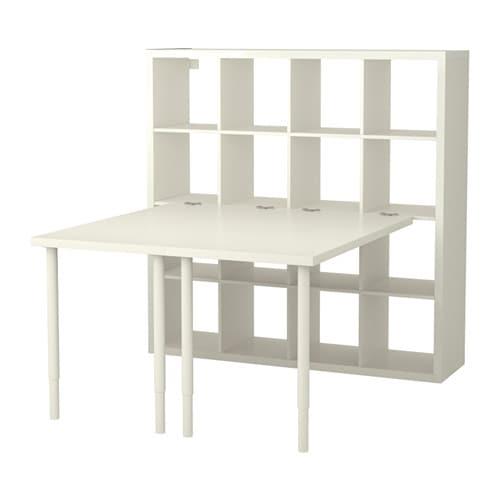 КАЛЛАКС Стол, комбинация, белый, 147x147 см-1