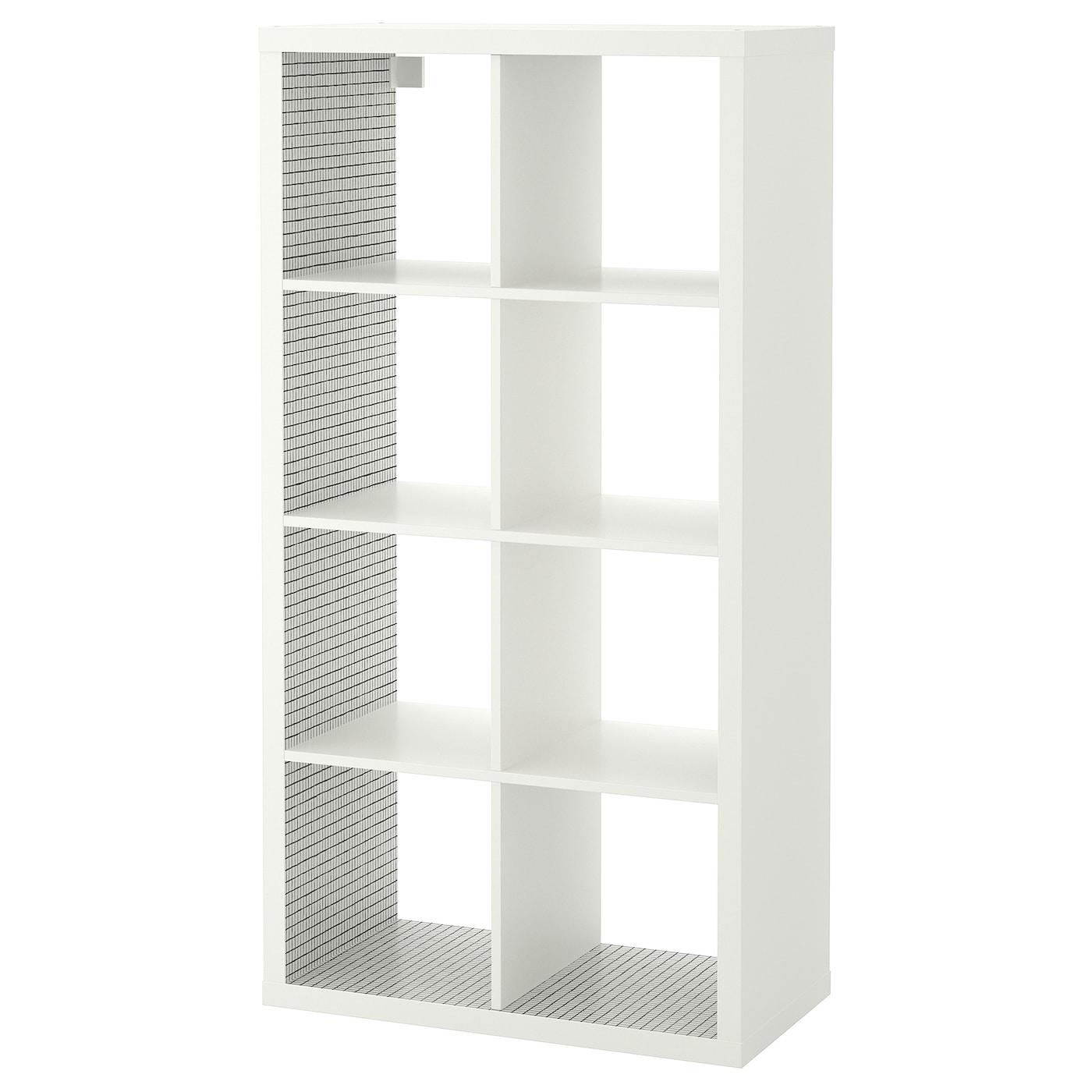 IKEA KALLAX Regał, biały, kratka, 77x147 cm