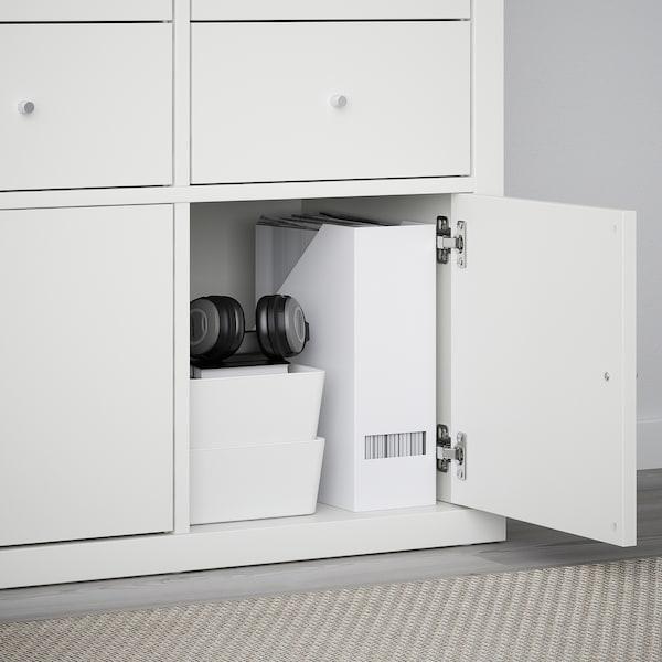 KALLAX Wkład z drzwiami, biały, 33x33 cm