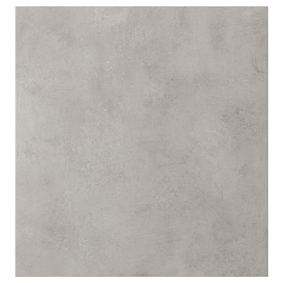 KALLVIKEN Drzwi, jasnoszary imitacja betonu, 60x64 cm