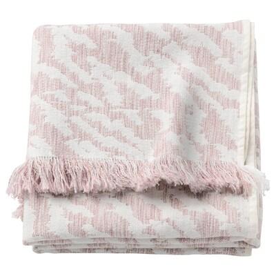 KAPASTER Pled, biały/różowy, 130x170 cm