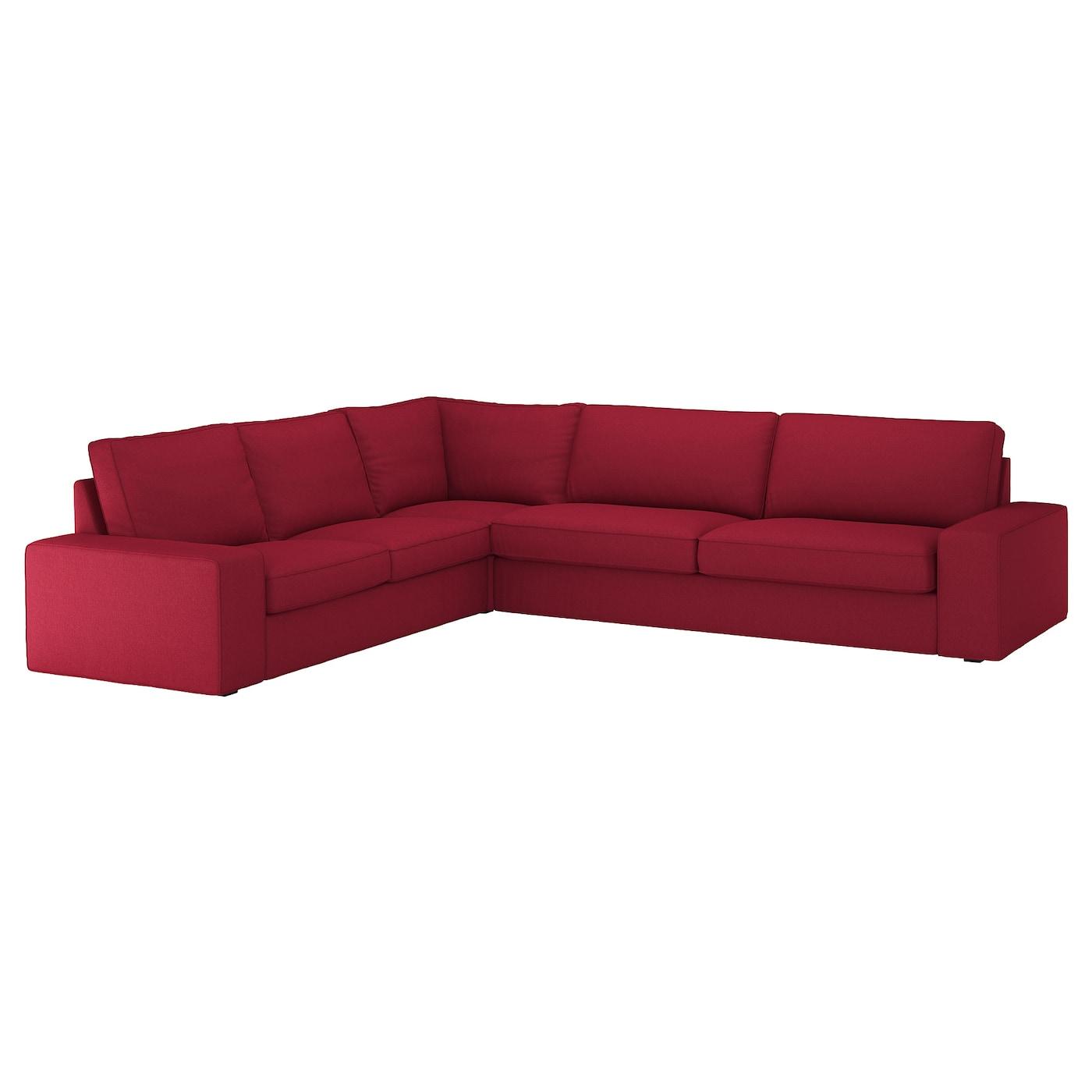 IKEA KIVIK Sofa narożna 5-osobowa, Orrsta czerwony