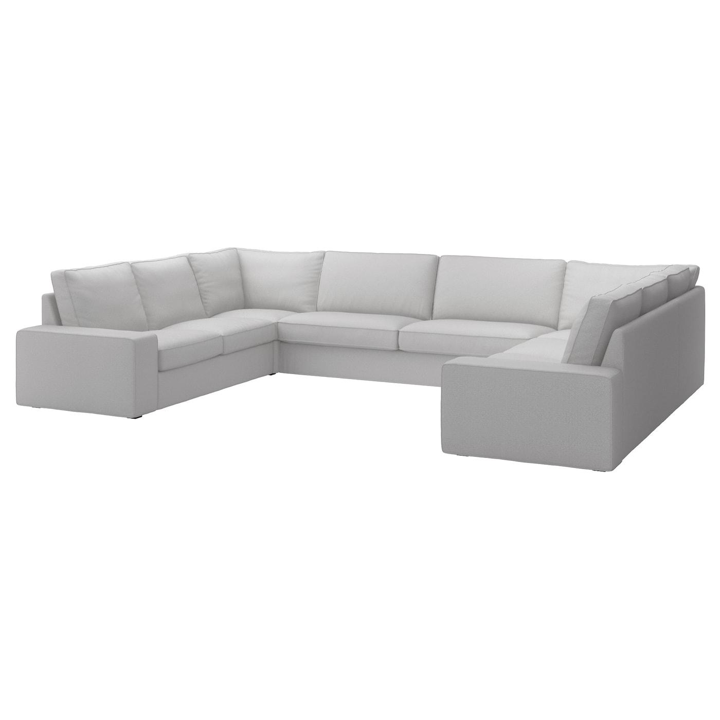 IKEA KIVIK jasnoszara, dziewięcioosobowa sofa w kształcie litery