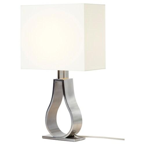 KLABB lampa stołowa kremowy/niklowano 7 Wat 44 cm 2 m