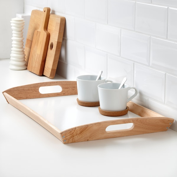 KLACK Taca, drewno kauczukowe, 38x58 cm