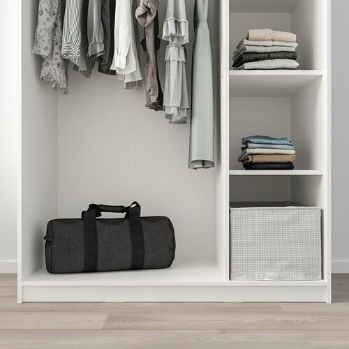 КЛЕППСТАД Гардероб 3-дверный, белый, 117x176 см-3