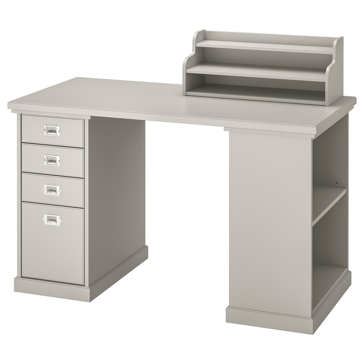 IKEA KLIMPEN szary stół z jasnoszarą dostawką i blatem, 120x60 cm