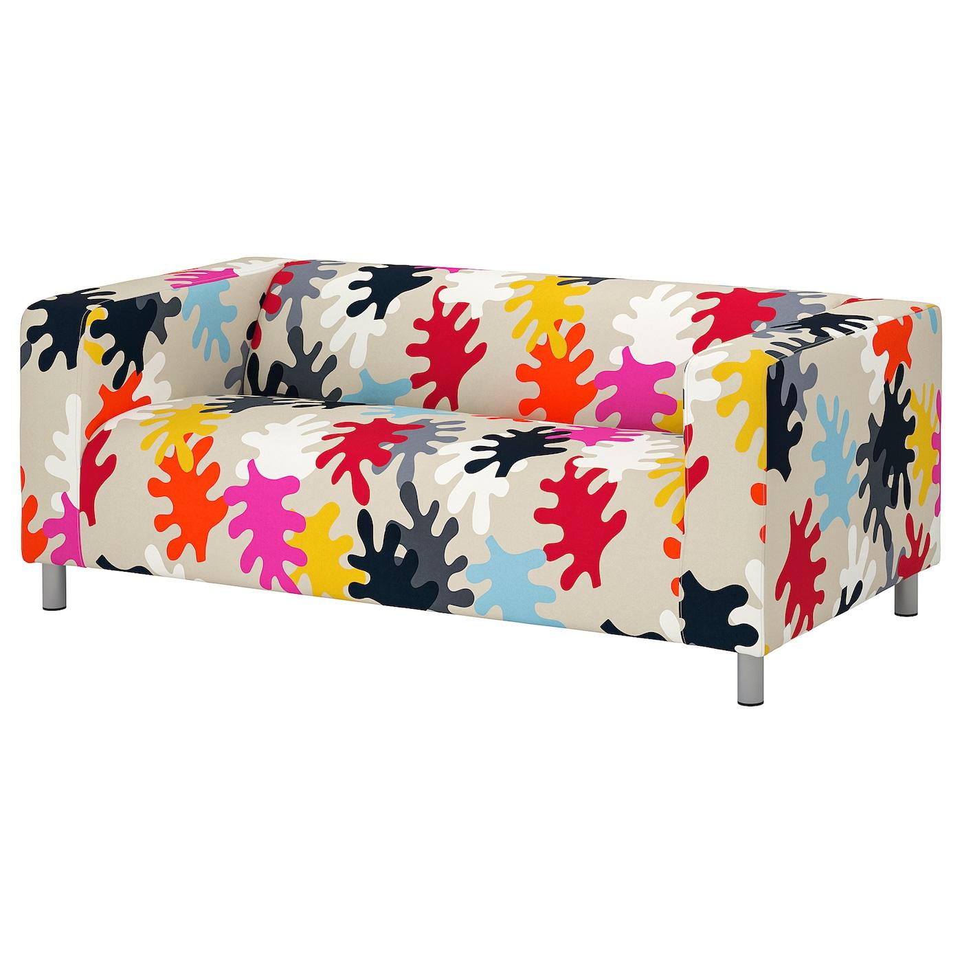 IKEA KLIPPAN Sofa 2-osobowa, Mattsbo wielobarwny