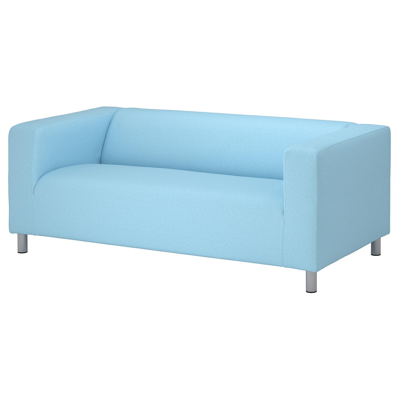 IKEA KLIPPAN Sofa 2-osobowa, Vissle jasnoniebieski