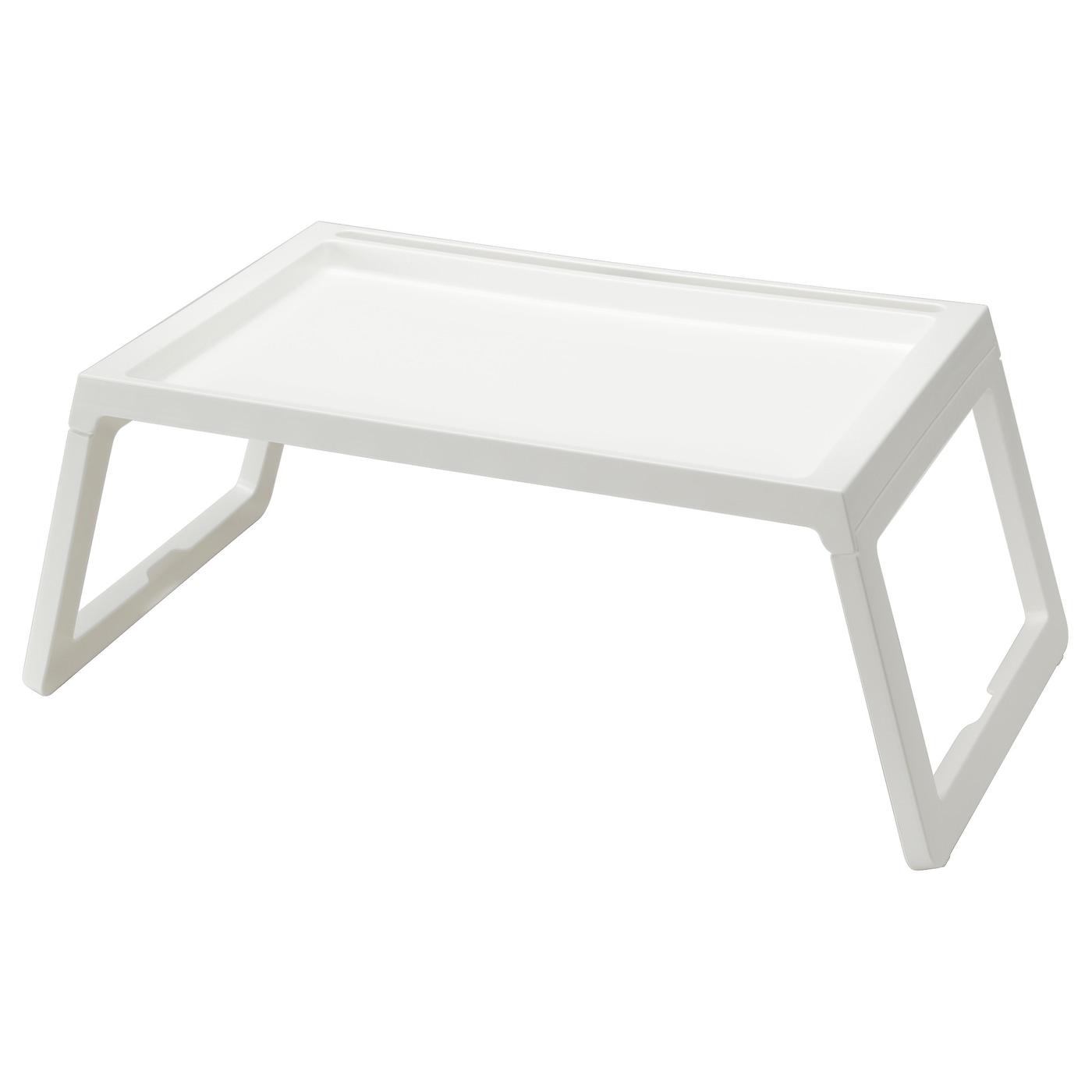 IKEA KLIPSK biały stolik-tacka ze składanymi nogami, 56x36 cm