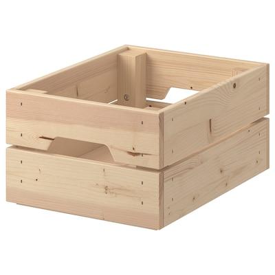 KNAGGLIG Pudełko, sosna, 23x31x15 cm