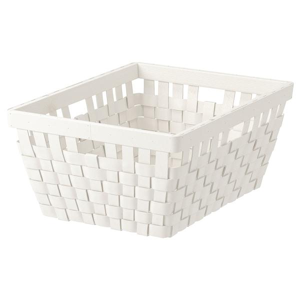 KNARRA Kosz, biały, 38x29x16 cm