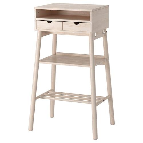 KNOTTEN biurko wysokie biały brzoza 52 cm 43 cm 62 cm 48 cm 105 cm 10 kg