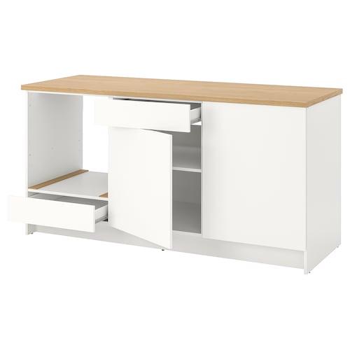 KNOXHULT szafka stojąca, drzwi+szuflada biały 182.0 cm 180.0 cm 61.0 cm 91.0 cm