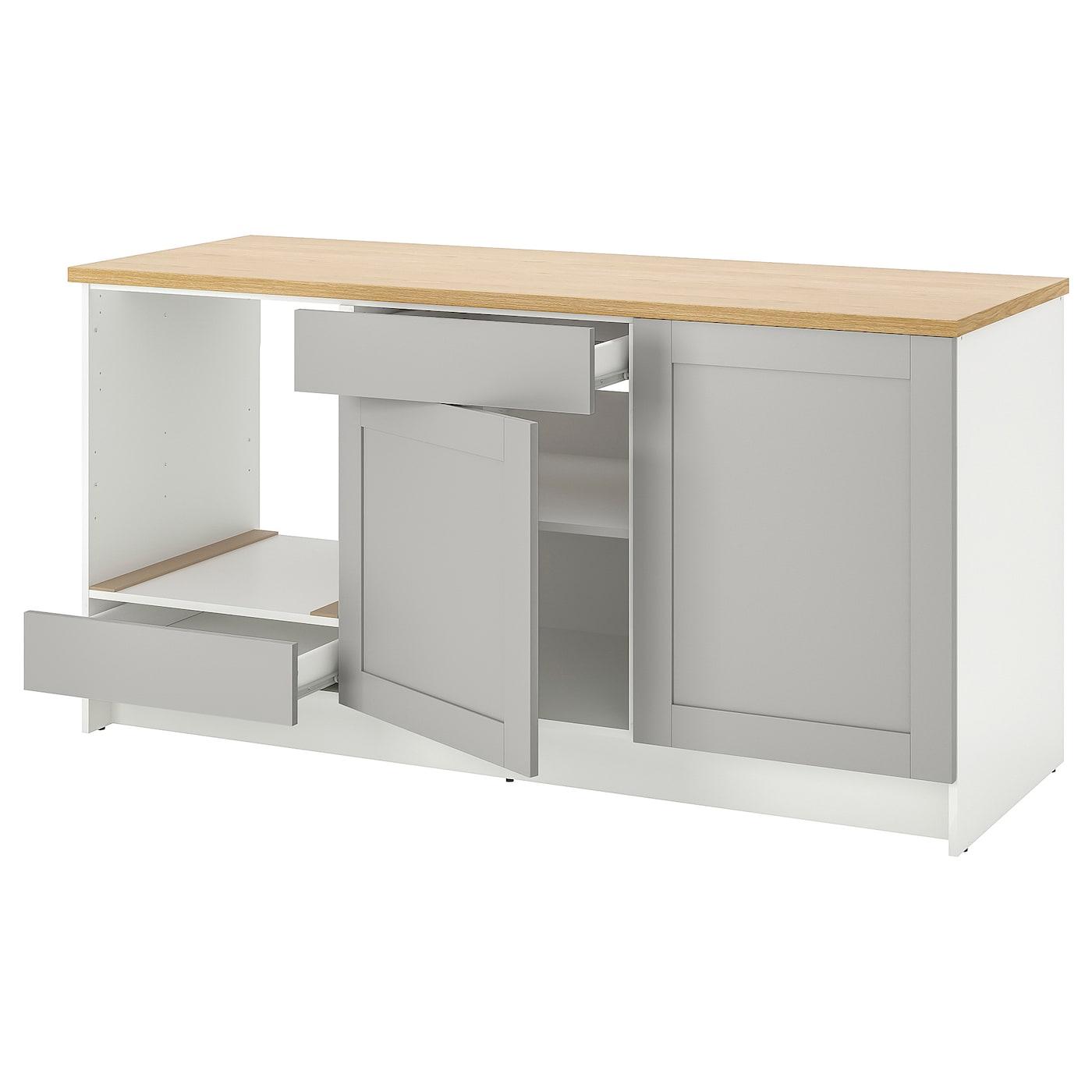 IKEA KNOXHULT szara szafka stojąca z drzwiami i szufladą, szerokość 180 cm