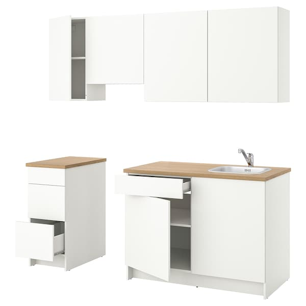 KNOXHULT Kuchnia, biały, 220x61x220 cm