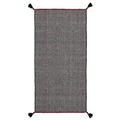 KOKSEBY Dywan tkany na płasko, czarny/biały, 75x150 cm