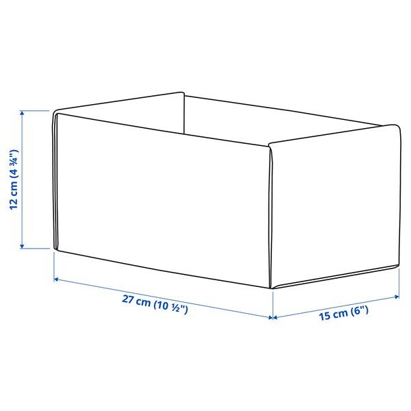 KOMPLEMENT pudełko jasnoszary 15 cm 27 cm 12 cm 2 szt.