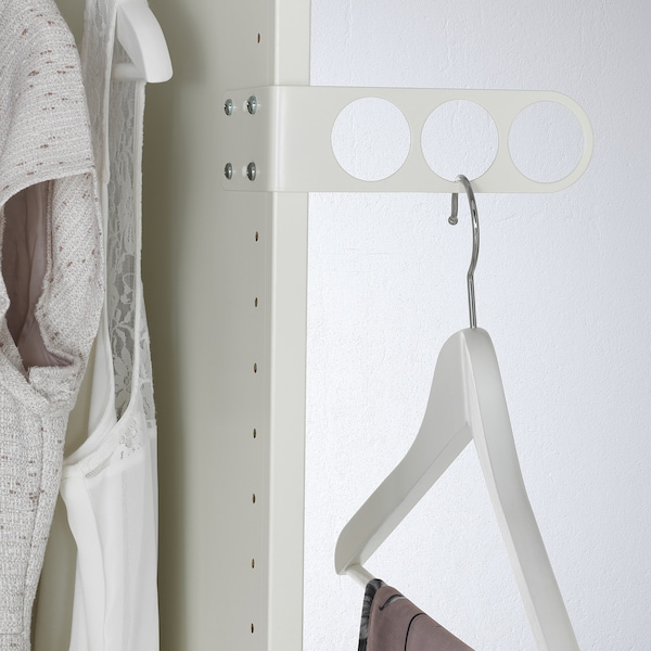 KOMPLEMENT Drążek na wieszaki i ubrania, biały, 17x5 cm