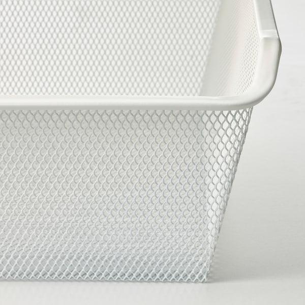 KOMPLEMENT Kosz siatkowy z wysuwaną prowadnicą, biały, 50x58 cm