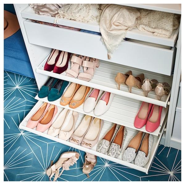 KOMPLEMENT Wysuwana półka na buty, biały, 100x58 cm