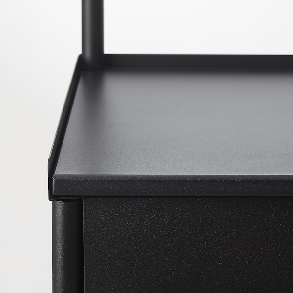 KORNSJÖ Szafka z lustrem, czarny, 70x47 cm