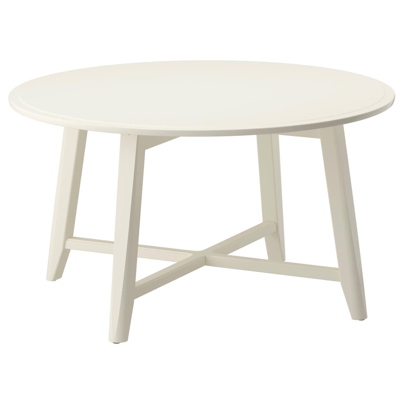 IKEA KRAGSTA biały, okrągły stolik, średnica 90 cm