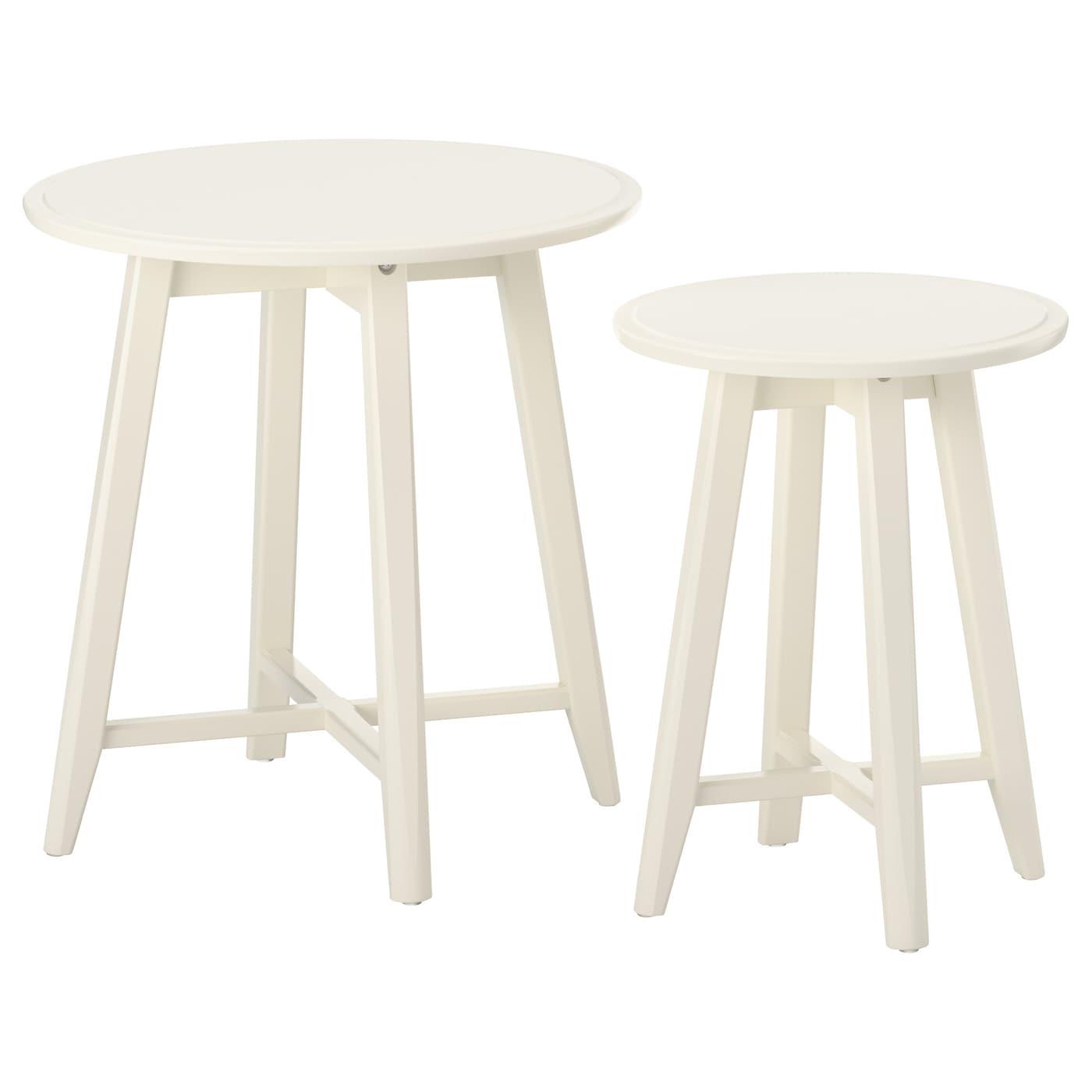 IKEA KRAGSTA białe stoliki, 2 sztuki