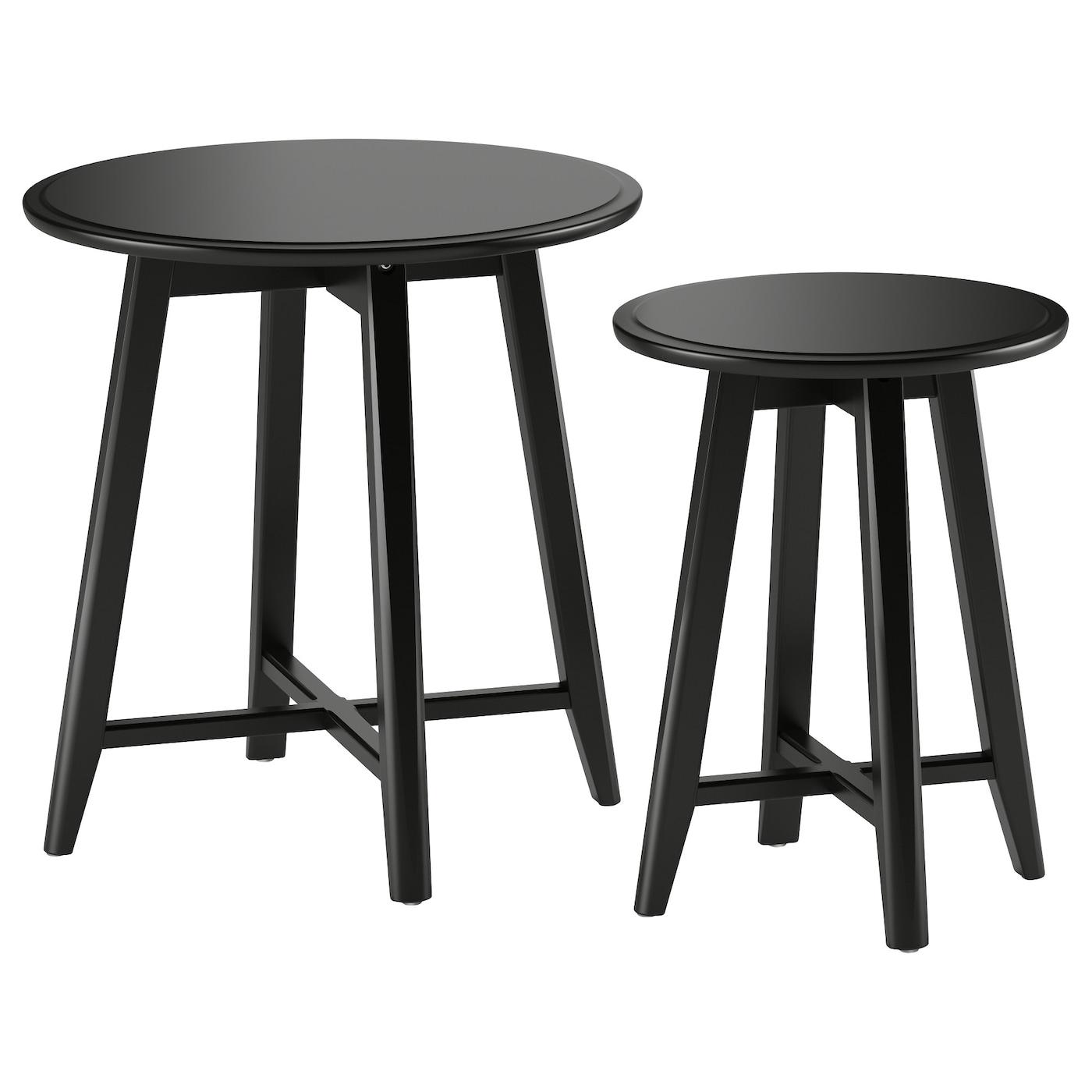 IKEA KRAGSTA czarne stoliki, 2 sztuki