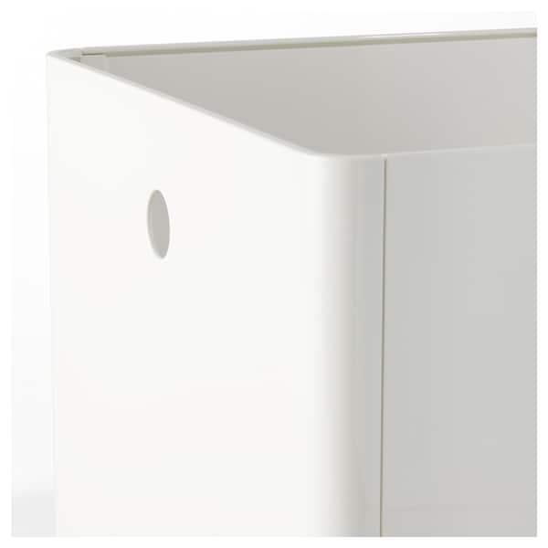 KUGGIS Pojemnik, biały, 30x30x30 cm