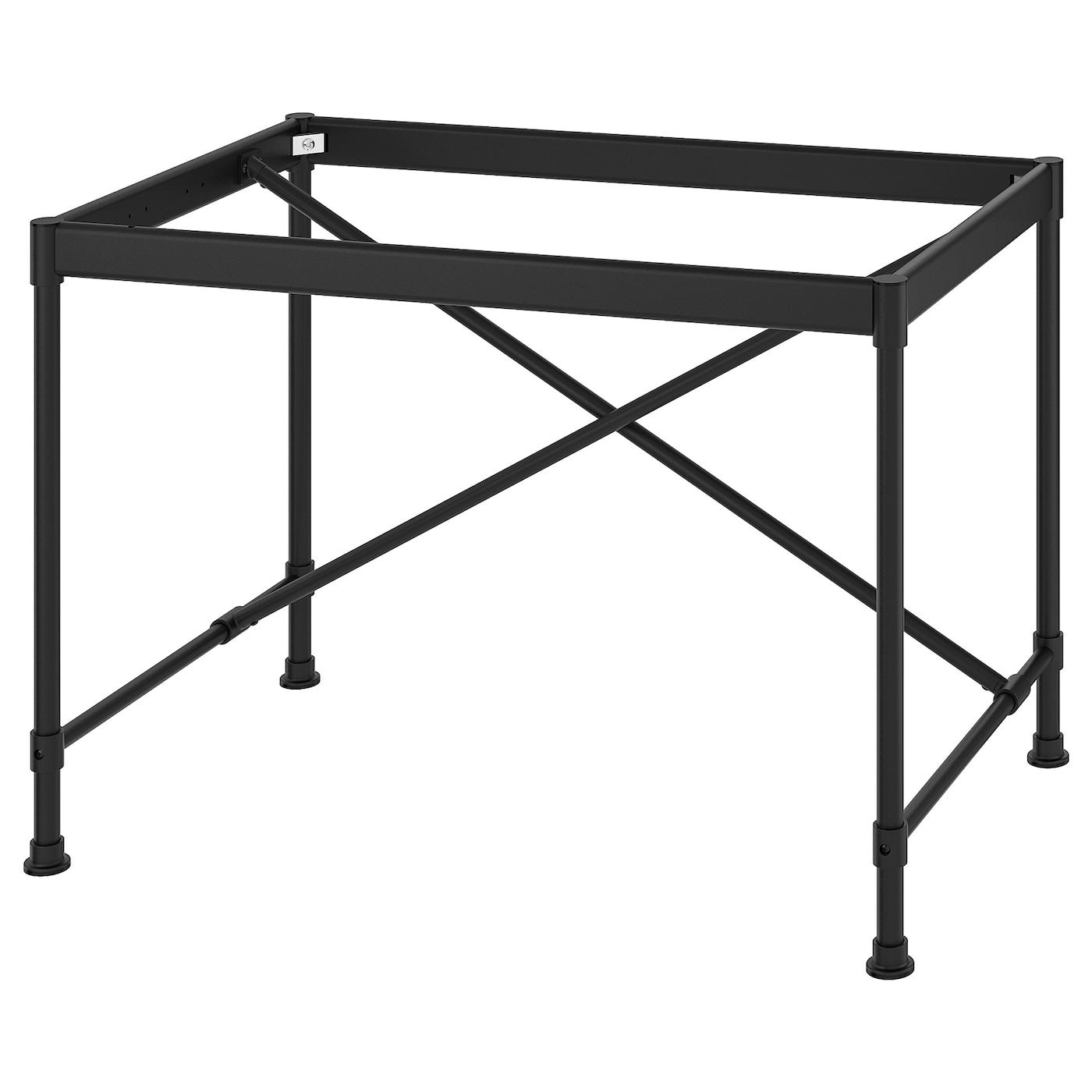 IKEA KULLABERG Podstawa blatu stołu, czarny, 102x62x71 cm