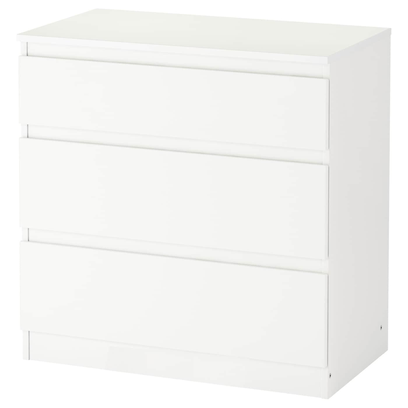 IKEA KULLEN Komoda, 3 szuflady, biały, 70x72 cm