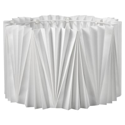 KUNGSHULT Klosz, plisowane biały, 33 cm