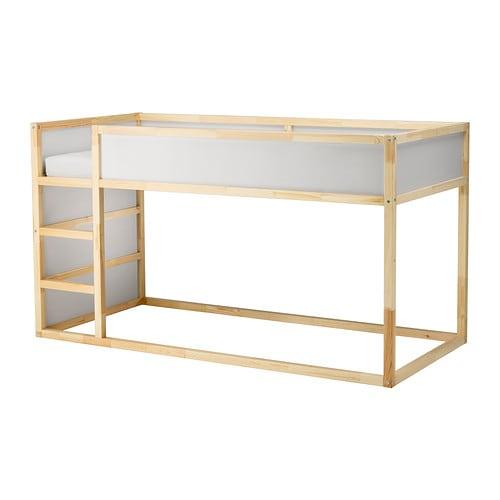 КЮРА Двусторонняя кровать, белый, сосна, 90x200 см-2