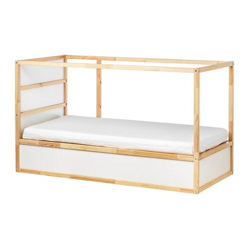 КЮРА Двусторонняя кровать, белый, сосна, 90x200 см-7
