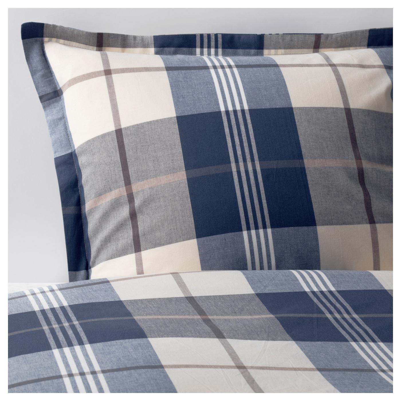 KUSTRUTA-1 Комплект постельного белья, синий отмечен, 150x200/50x60 см