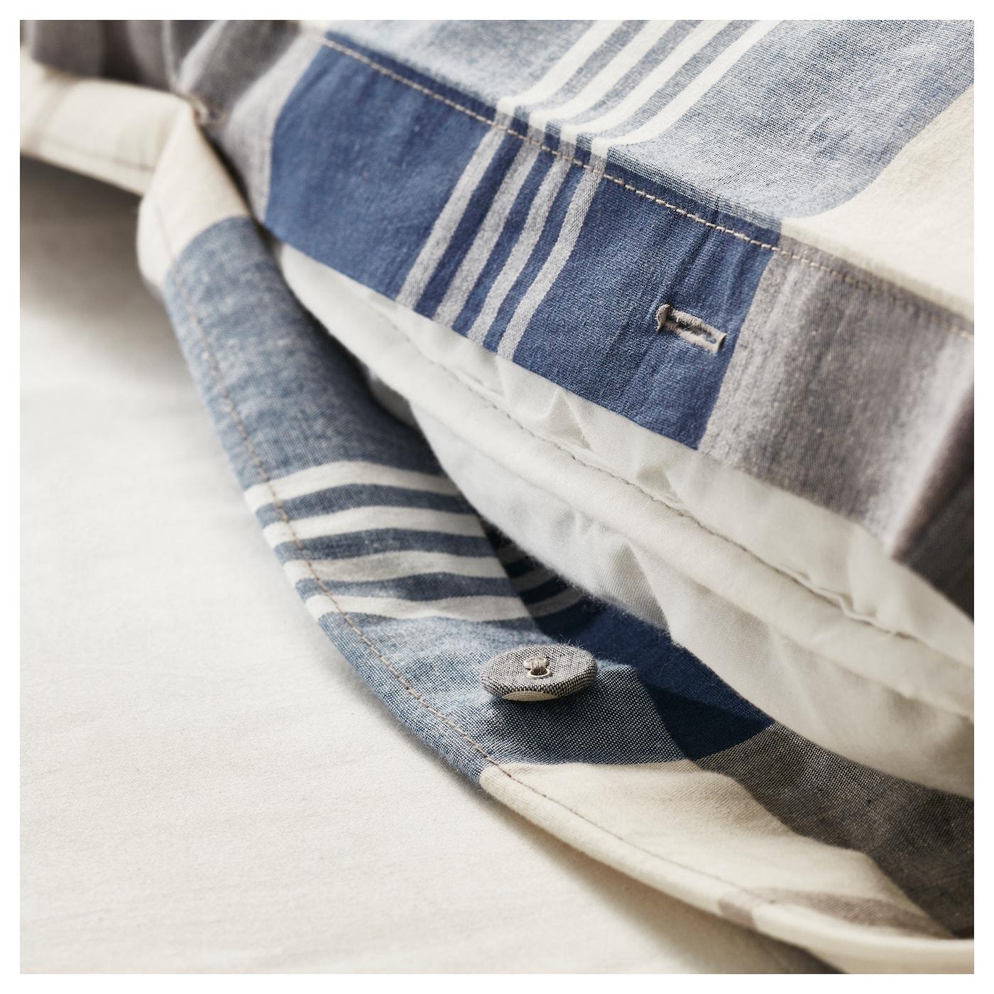 KUSTRUTA-2 Комплект постельного белья, синий отмечен, 150x200/50x60 см