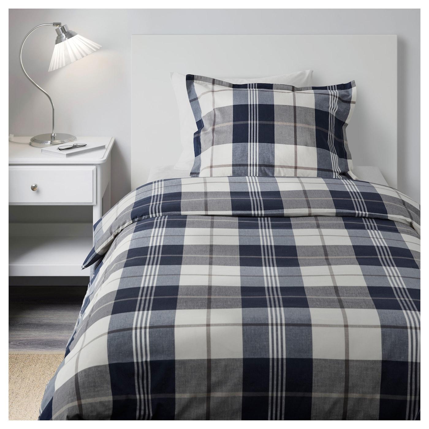 KUSTRUTA-3 Комплект постельного белья, синий отмечен, 150x200/50x60 см