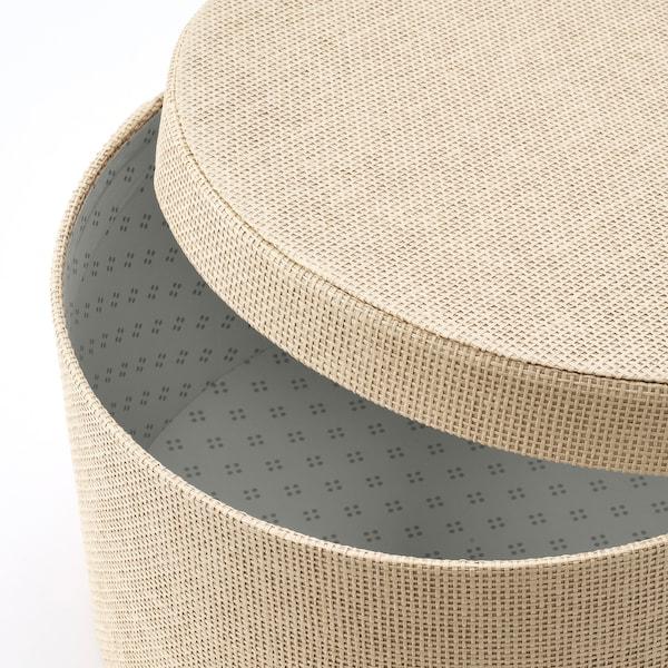 KVARNVIK Pudełka komplet 3 sztuki, beżowy