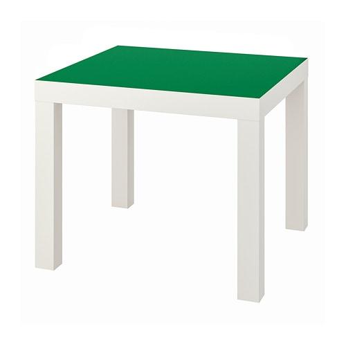 LACK Kafijas galdiņš, balts, zaļš, 55x55 cm