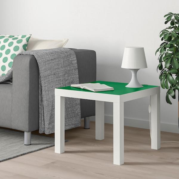 LACK Stolik, biały/zielony, 55x55 cm