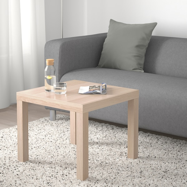 LACK Stolik, dąb bejcowany na biało, 55x55 cm