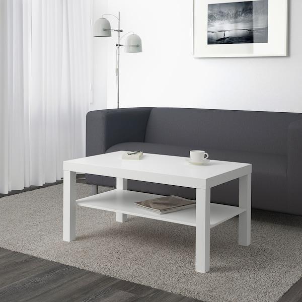 LACK Stolik kawowy, biały, 90x55 cm
