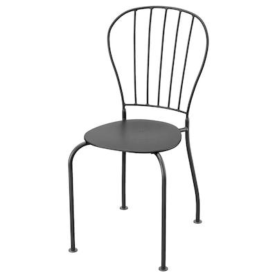 LÄCKÖ Krzesło, ogrodowe, szary