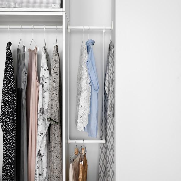 LÄTTHET Drążek na ubrania do ramy, biały, 35-60x55 cm