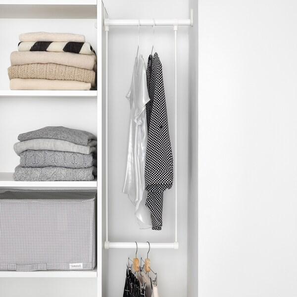 LÄTTHET Drążek na ubrania do ramy, biały, 35-60x40 cm
